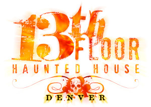 image of the logo for the 13th Floor Haunted House in Colorado