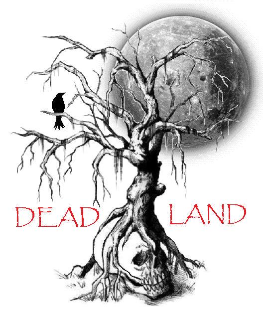 Image of dead tree and human skull against a full moon background.