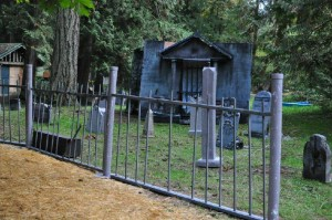 scary cemetery at Haunted Forest of Maple Valley attraction