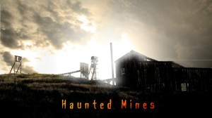 Image of the outside of the Haunted Mines haunt attraction in Colorado.