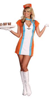 Vintage Flight Attendant Costume