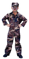 Boys Camo Soldier Costume