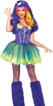 Purple Posh Monster Costume