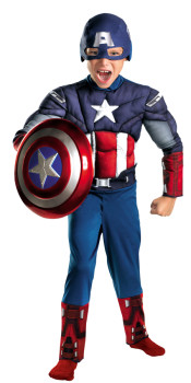 Kids Captain America Muscle Costume