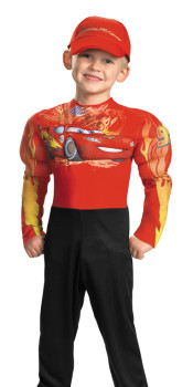 Lightning McQueen Muscle Costume