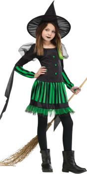 Green Wicked Witch Kids Costume