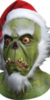 Latex Green Santa Mask