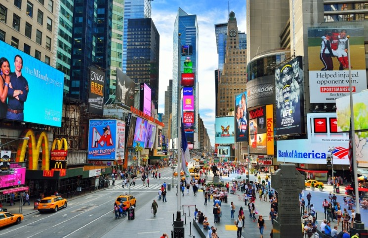 Image of Times Square in New York City.