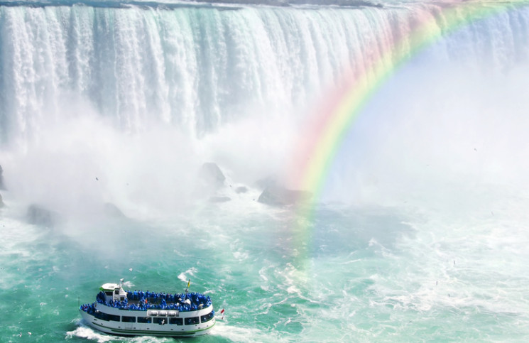 Image of tourist boat at Niagara Falls.