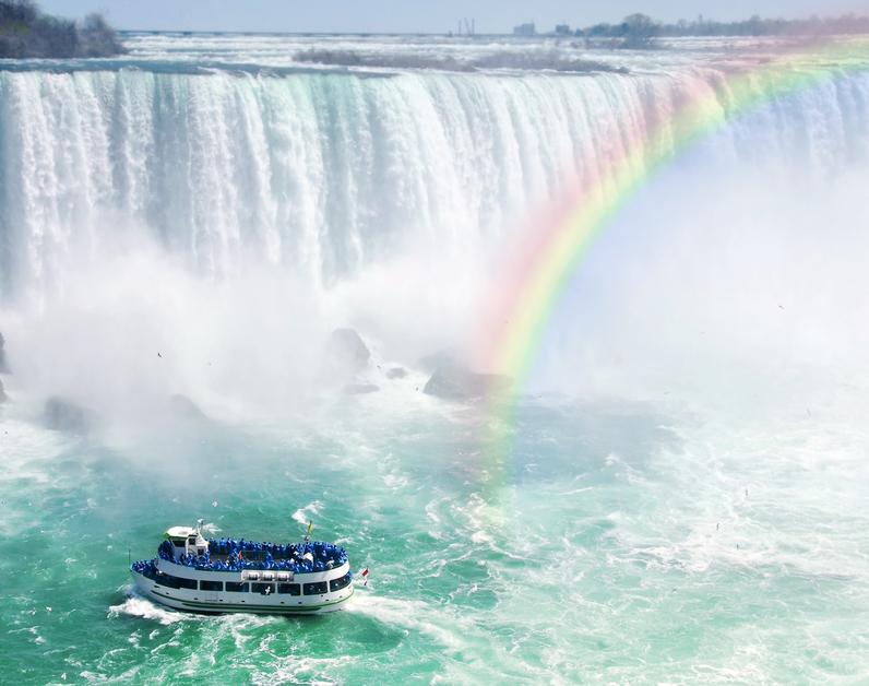 Image Of Tourist Boat At Niagara Falls