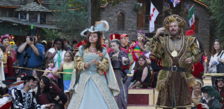 Image of King and Queen dancing at Renaissance Festival.