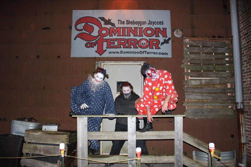 Image of actors at haunted house Dominion of Terror in Sheboygan Wisconsin.