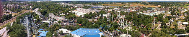 Image of HersheyPark from a distance.