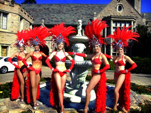 Image of the front of Playboy Mansion in Los Angeles.