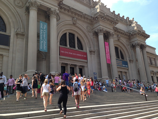Image of front steps at the Metropolitan Museum of Art in NYC.