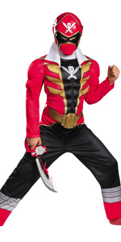 Muscle Super Megaforce Red Ranger Kids Costume