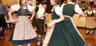 Image of girls dancing at Oktoberfest.