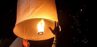 Image of sky lantern at Rise Festival
