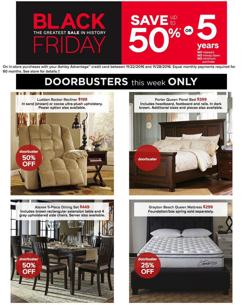 Ashley furniture homestore black friday 2017 ad funtober for Furniture black friday