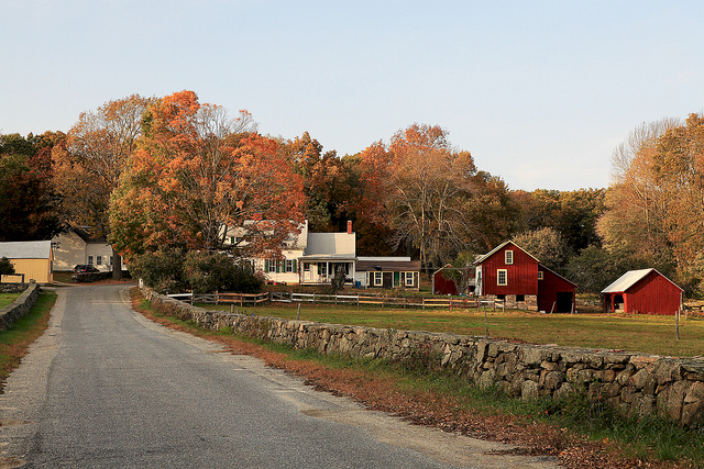 Image of farm building on Rhode Island farm.