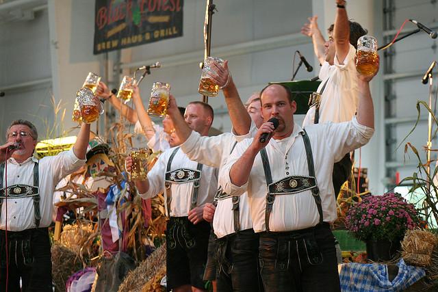 Image of Oktoberfest band at local celebration.