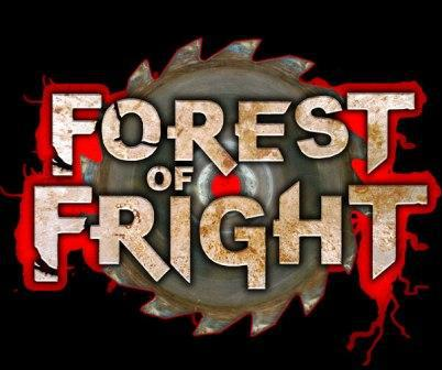 image of haunted trail Forest of Fear attraction banner near Philo Ohio