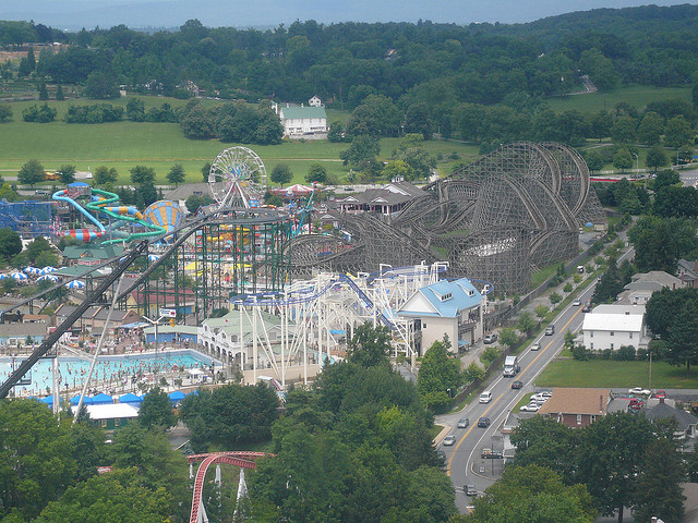 Image of roller coasters at HersheyPark in Hershey PA.
