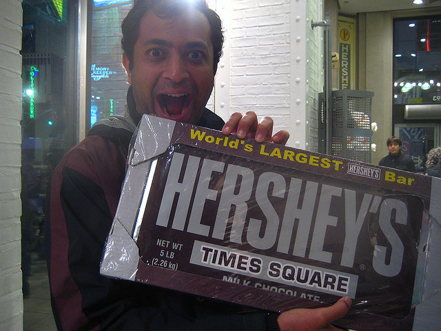 Image of Hershey's worlds largest chocalate bar.