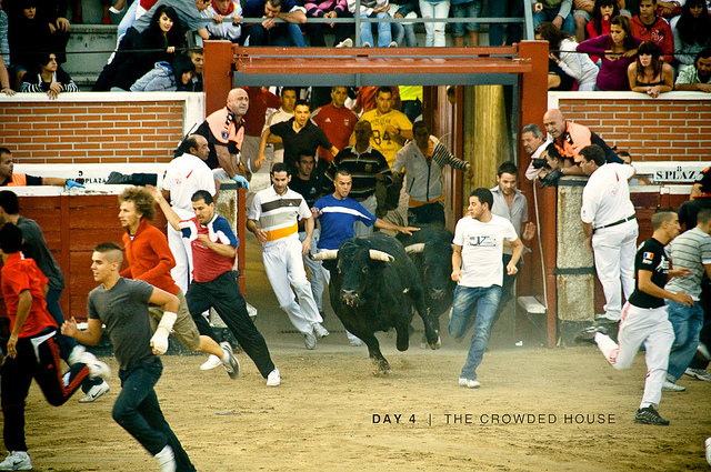 Image of San Sebastian running of the bulls.