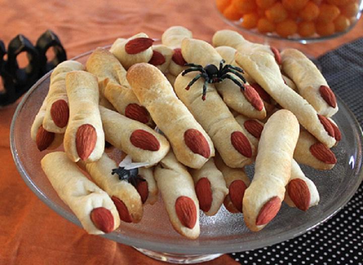 image of lady fingers for Halloween desert.