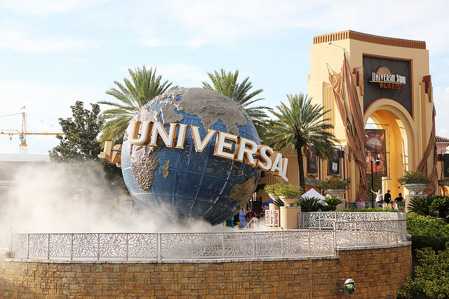 Image of Universal world at Halloween Horror Nights in Florida.