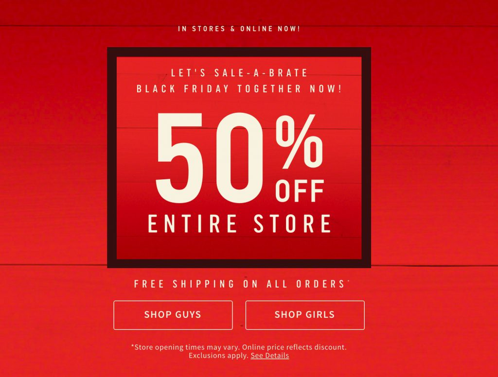2da259afd Hollister Black Friday 2019 Ad & Cyber Monday Deals - Funtober