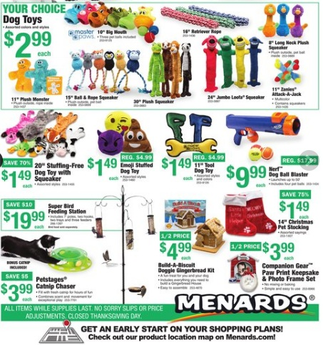 Menards 11 sale dates