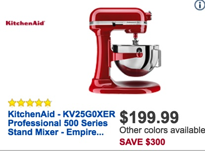 Best Black Friday Price For Kitchen Aid Mixer