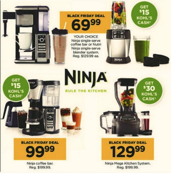 ninja cyber monday 2018 black friday foodi blender coffee bar deals funtober. Black Bedroom Furniture Sets. Home Design Ideas