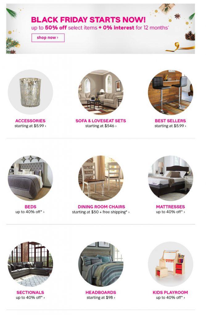 Ashley Furniture Homestore Black Friday 2018 Ad Funtober
