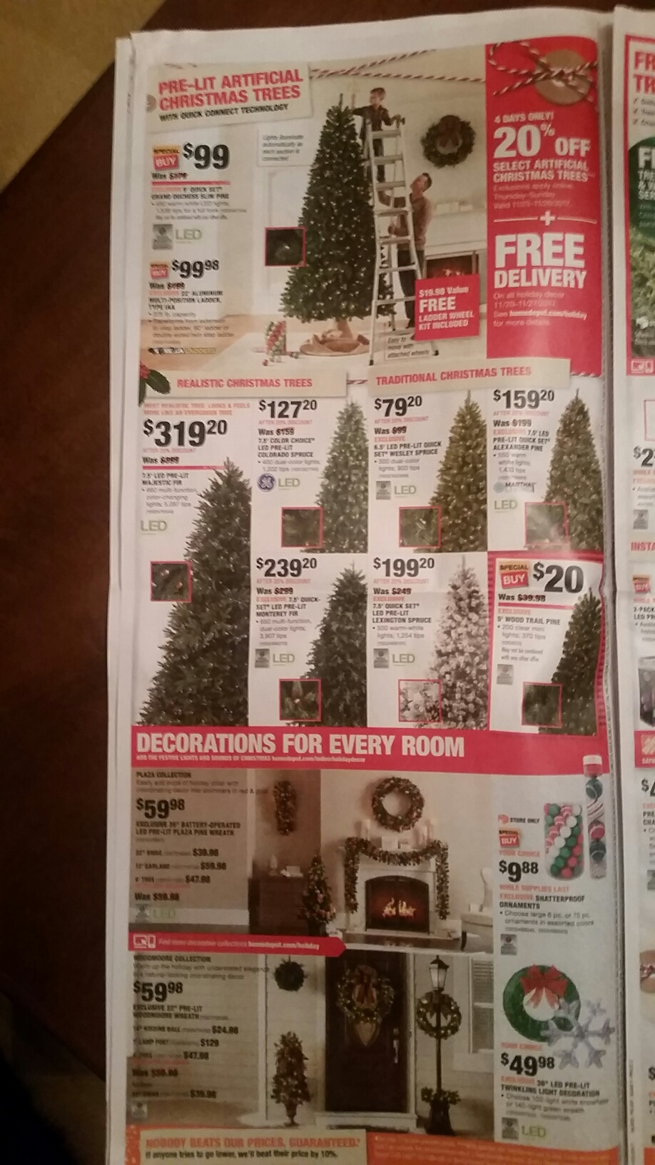 here is the home depots black friday ad for 2017 cyber monday deals - Black Friday Deals On Christmas Trees
