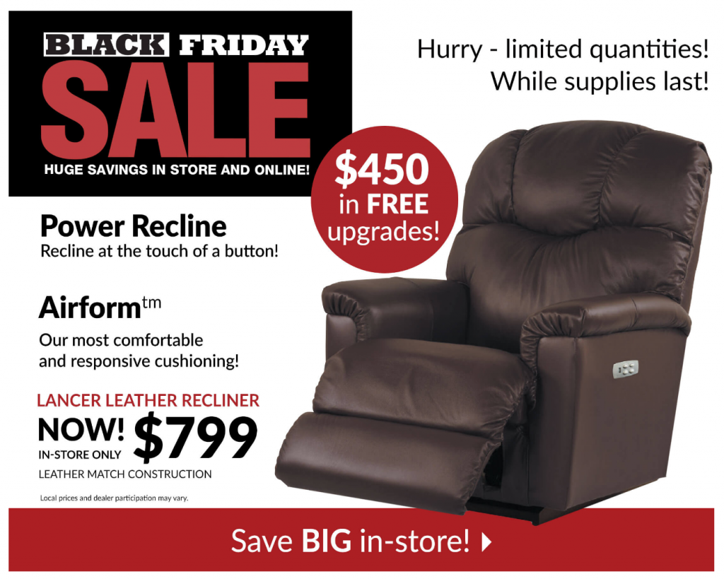 La Z Boy Black Friday 2019 Ad Furniture Amp Recliner Deals