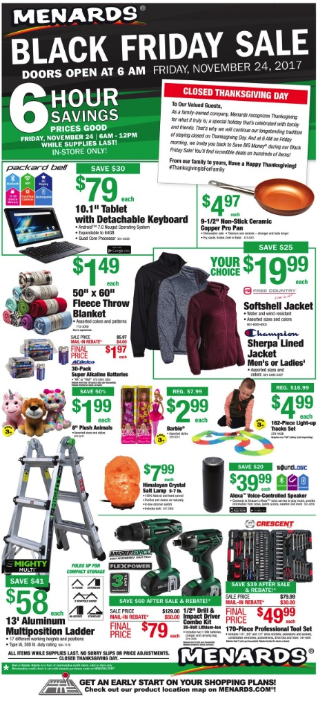 Are not menards black friday ad 2012