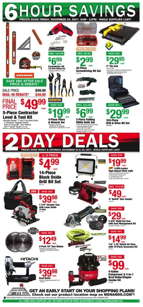 Menards Black Friday 2019 Ad - Tools, Hardware, Kitchen ...