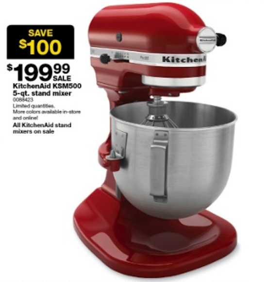 Option Is The Kitchenaid Ksm500 5 Qt Stand Mixer There Are Limited Quanies In And Advertised Savings Off Regular Price 100