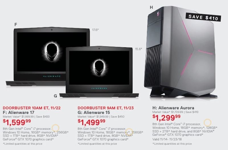 black friday gaming computer deals 2019