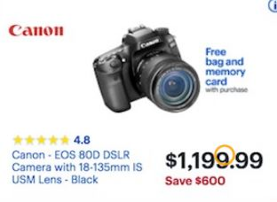 Canon Eos 80d Camera Black Friday 2020 Cyber Monday Deals Funtober