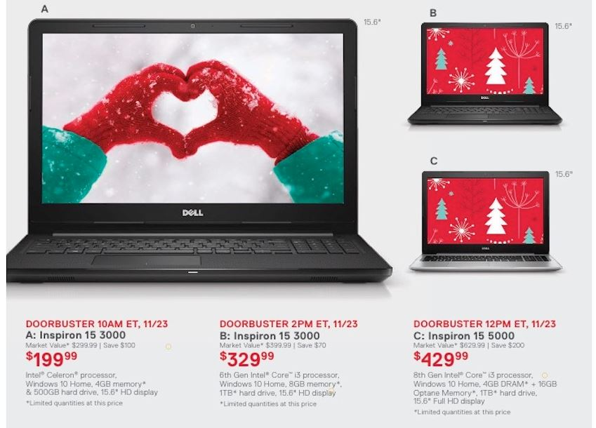 Dell Inspiron Black Friday 2020 Laptop 11 13 15 Cyber Monday
