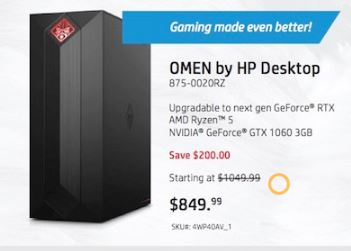 Best Cyber Monday Deals 2020 Desktop Gaming Computer Black Friday 2019   HP Omen, CyberPowerPC