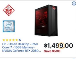 Best Black Friday Computer Deals 2020 Desktop Gaming Computer Black Friday 2018   HP Omen, CyberPowerPC