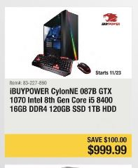 62c03e5793e Desktop Gaming Computer Black Friday 2018 - HP Omen, CyberPowerPC ...