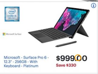 Best Black Friday Computer Deals 2020 Best Microsoft Surface Pro 6 Cyber Monday 2018 & Black Friday