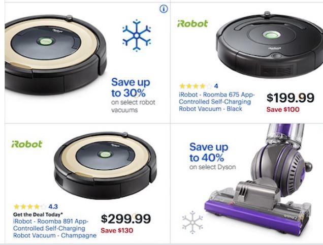 irobot roomba vacuum deals for black friday 2018 funtober. Black Bedroom Furniture Sets. Home Design Ideas