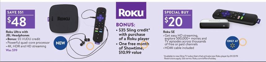 Roku, Apple 4K TV, Chromecast & Fire TV Black Friday 2019
